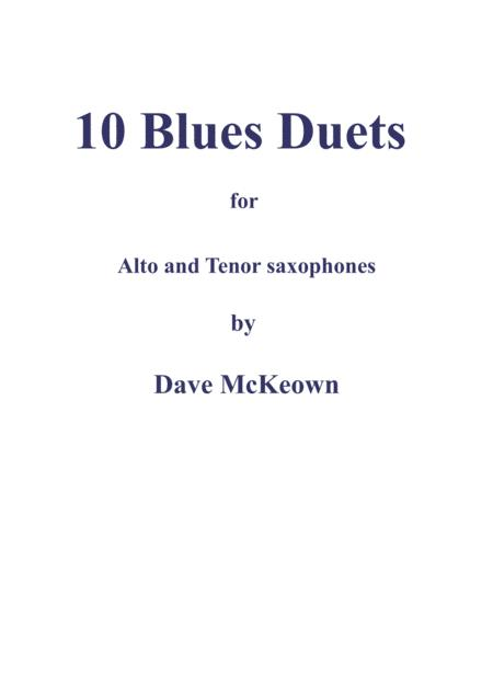 10 Blues Duets for Alto and Tenor Saxophone