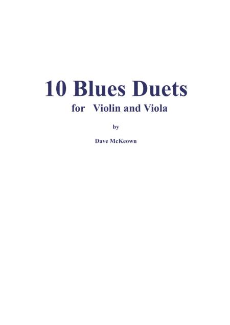10 Blues Duets for Violin and Viola