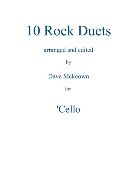10 Rock Duets for Cello