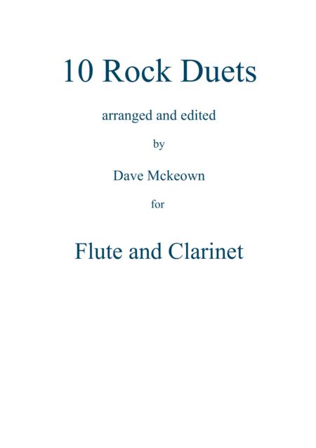 10 Rock Duets for Flute and Clarinet