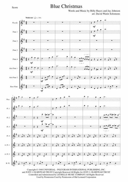 Blue Christmas for flute choir