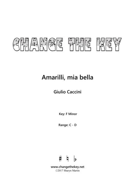Amarilli, mia bella - F Minor