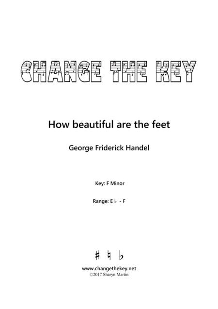 How beautiful are the feet - F Minor