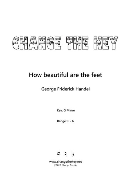 How beautiful are the feet - G Minor