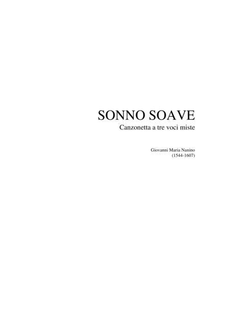 SONNO SOAVE - Canzonetta a tre voci miste SAB - G.M.Nanino (1544-1607)