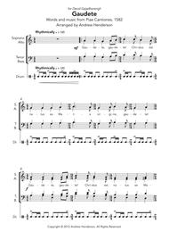 Gaudete (SATB and drum)