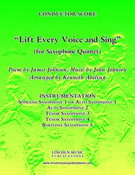 Lift Every Voice and Sing (for Saxophone Quintet SATTB or AATTB)
