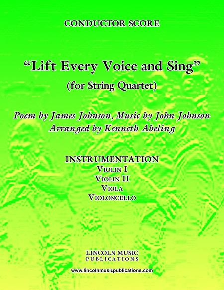 Lift Every Voice and Sing (for String Quartet)