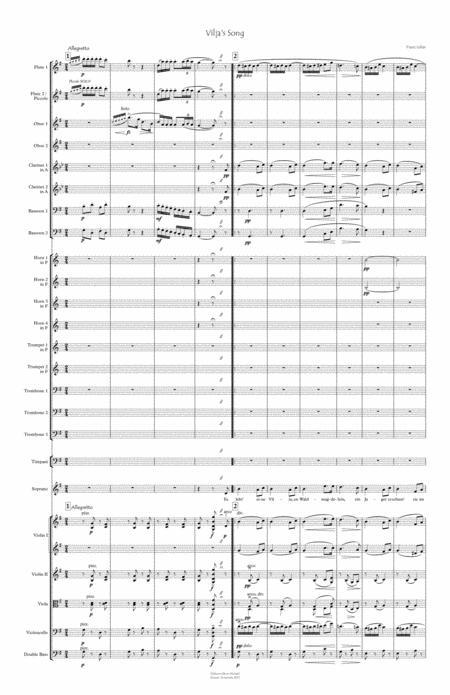 Vilja's Song for Soprano & Orchestra