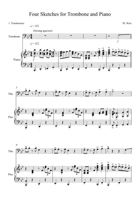 Four Sketches for Trombone & Piano -  1. Trombounce