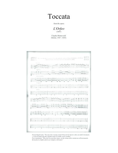TOCCATA (fanfare) from the 1607 opera