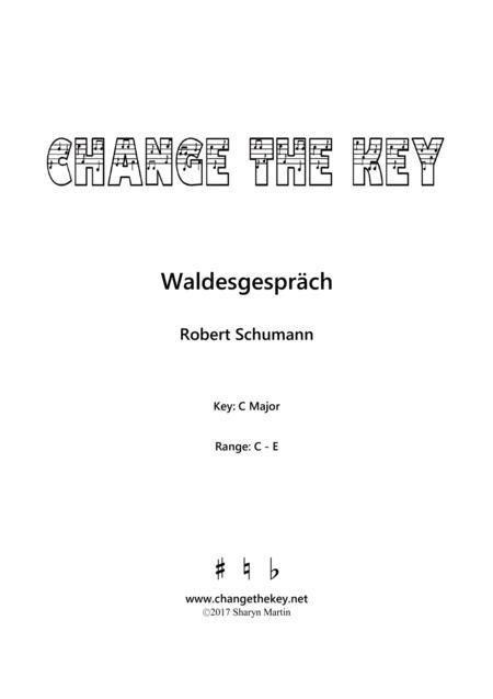 Waldesgesprach Op.39, No.3 - C Major