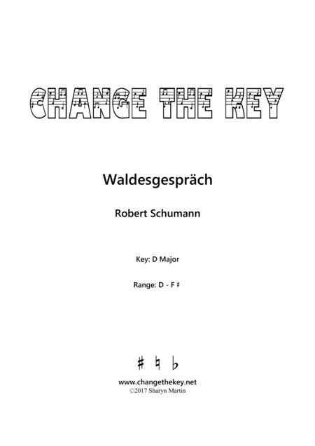 Waldesgesprach Op.39, No.3 - D Major