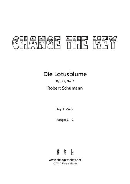 Die Lotusblume Op.25, No.7 - F Major