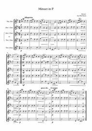 Minuet in F - Mozart