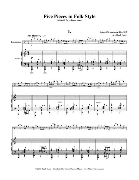Five Pieces in Folk Style for Euphonium and Piano