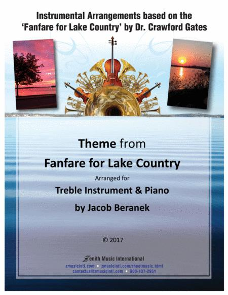 Theme from Fanfare for Lake Country - Treble Instrument and Piano