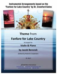 Theme from Fanfare for Lake Country - Violin and Piano