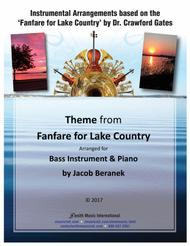 Theme from Fanfare for Lake Country - Bass Instrument and Piano