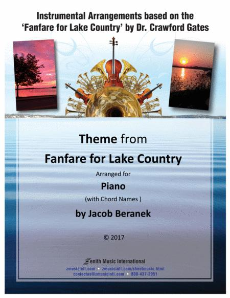 Download Theme From Fanfare For Lake Country - Solo Piano (with