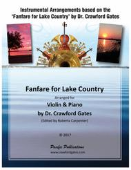 Fanfare for Lake Country - Violin and Piano  Op. 120B