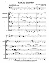 fc13c50f655 The Bare Necessities from THE JUNGLE BOOK for Brass Quintet with optional  Vocals & Chords