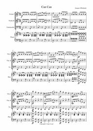 Can Can by Offenbach , arranged for Early/Beginner String Orchestra or Trio with Piano Accompanemnt