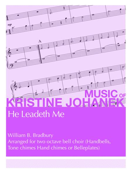 He Leadeth Me (2 Octave Handbells, Tone Chimes, Hand Chimes or Belleplates)