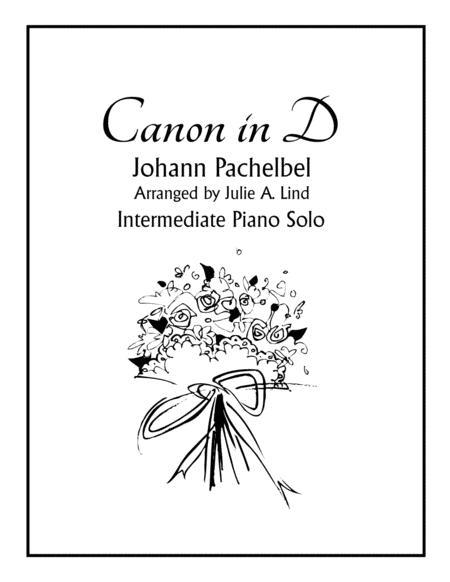 Canon in D - Pachelbel, Intermediate Piano Solo