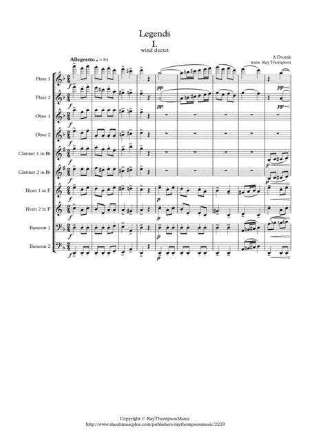 Dvorak: Legends Op.59 Mvt.1 in D minor - wind dectet