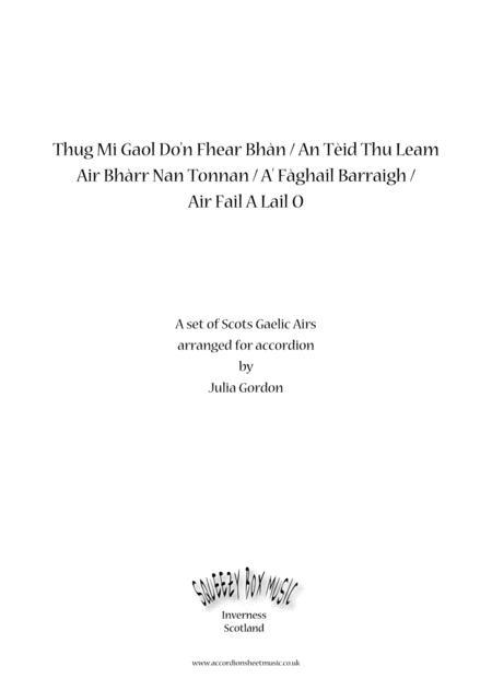 Tha Mi Gaol Do'n Fhear Bhàn / An Teid Thu Leam Air Bharr Nan Tonnan / Air Fail A Lail Ò