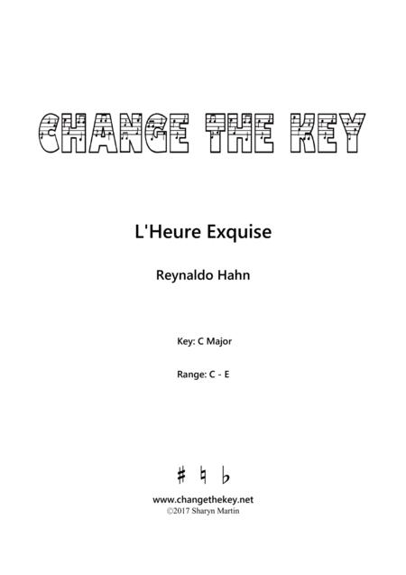 L'heure exquise - C Major