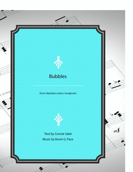Bubbles - vocal solo with piano accompaniment or piano solo