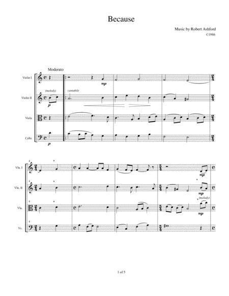 Because (String Quartet)