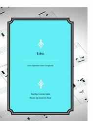 Echo - vocal solo with piano accompaniment or piano solo