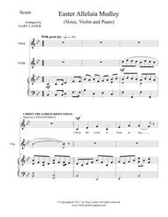 EASTER ALLELUIA MEDLEY (Voice, Violin and Piano. Score & Parts included)