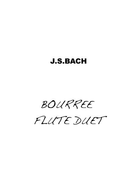 Bourree Bach Flute Duet