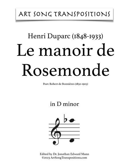 Le Manoir de Rosemonde (D minor)