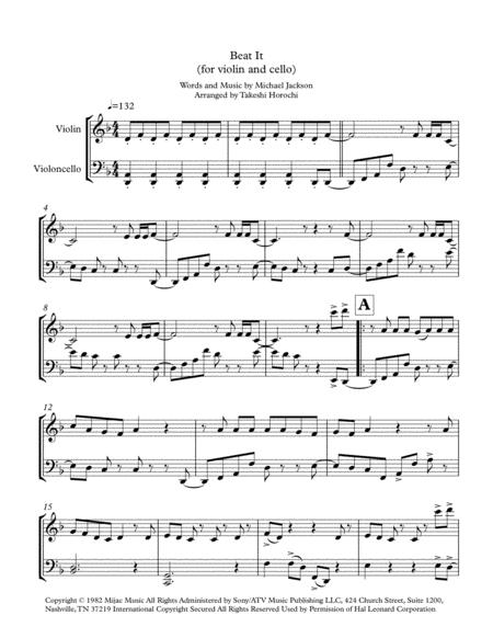 Beat It - violin and cello