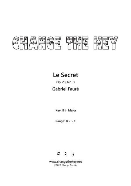 Le Secret - Bb Major