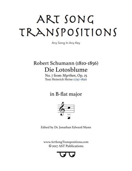 Die Lotosblume, Op. 25 no. 7 (B-flat major)