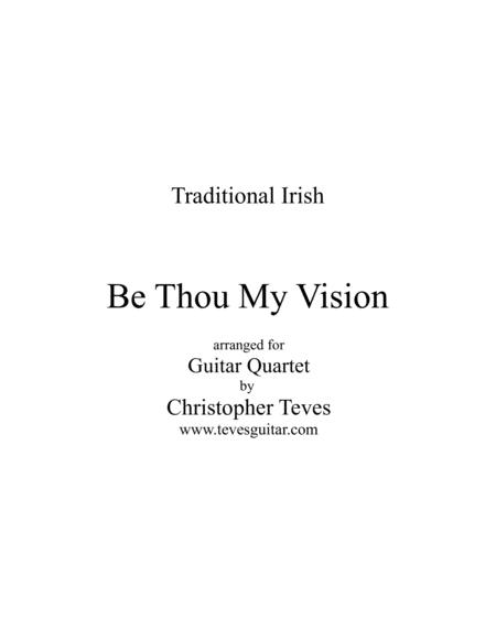 Be Thou My Vision, for guitar quartet