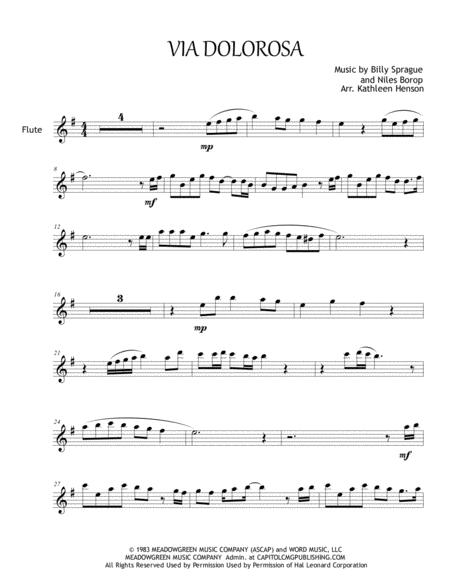 Download Via Dolorosa For Solo Flute Sheet Music By Sandi Patty ...