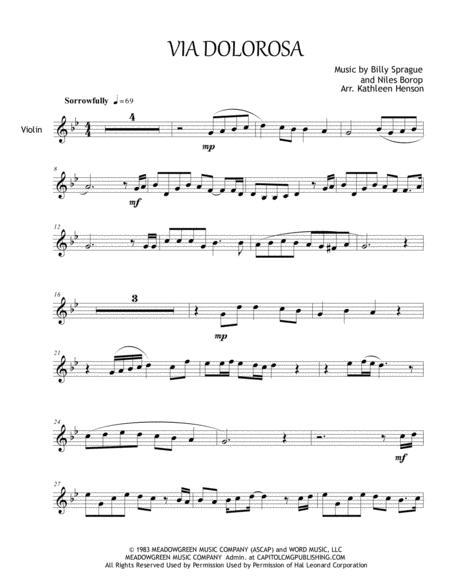 Via Dolorosa for Solo Violin