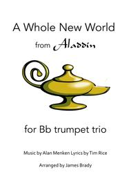 A Whole New World (from 'Aladdin') for trumpet trio