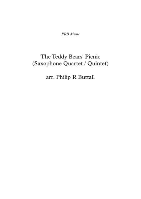 The Teddy Bears' Picnic (Saxophone Quartet / Quintet) - Score