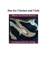 Duo for Clarinet and Viola