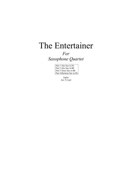 The Entertainer. For Saxophone Quartet