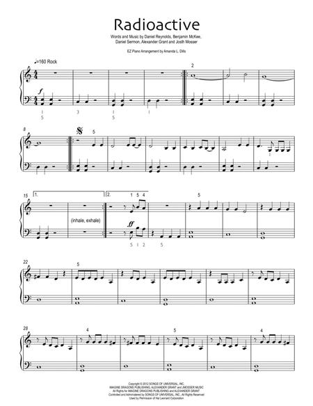 Radioactive (Easy Piano Version)