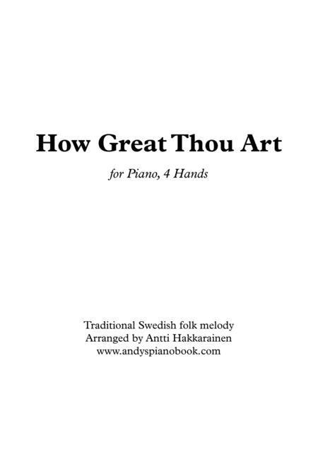 How Great Thou Art - Piano, 4 Hands